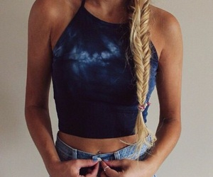 blonde, braid, and hipster image