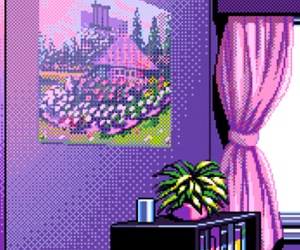 background, pixel, and pink image