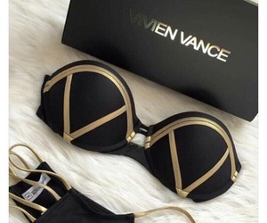 black, gold, and cool image
