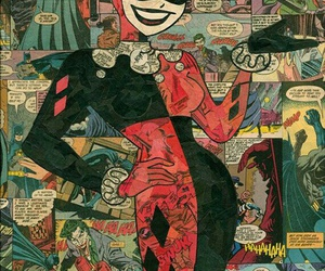 harley quinn, comic, and batman image