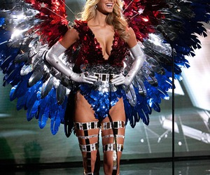 blonde, costume, and eagle image
