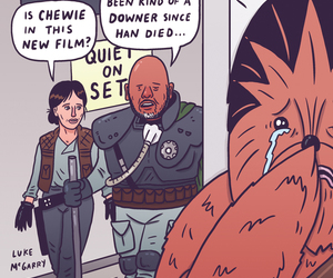 chewie, rogue one, and chewbacca image
