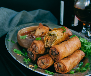 cheese, turkey, and spring roll image