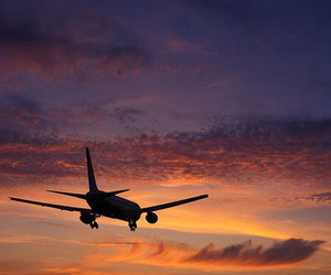 plane, travel, and yes image