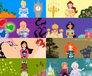 art and disney princesses image