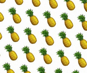 pattern, white, and pineapples image
