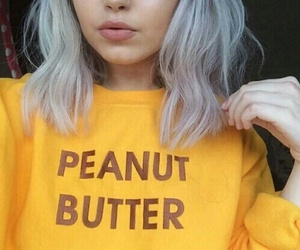 yellow, tumblr, and hair image
