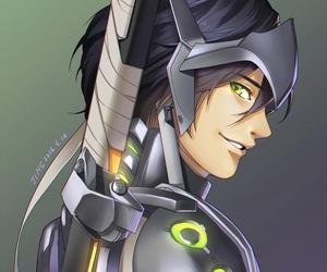 cyborg, machine, and overwatch image