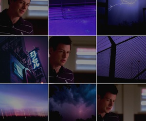 corey monteith, aesthetic, and dark purple image
