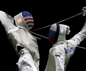 america, fencing, and olympics image
