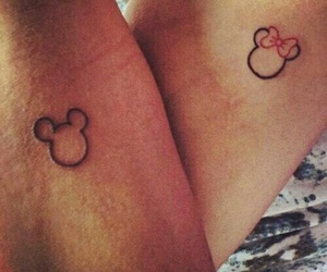 mickey mouse, mini, and Tattoos image