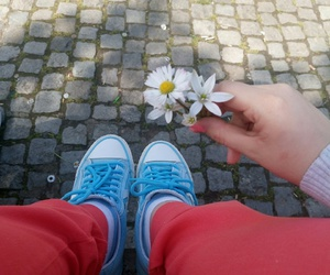 converse, flower, and spring image