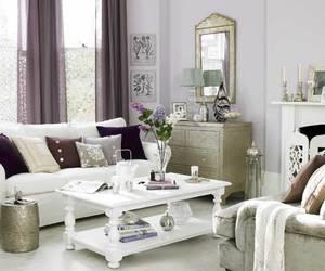 purple, white, and interior design image