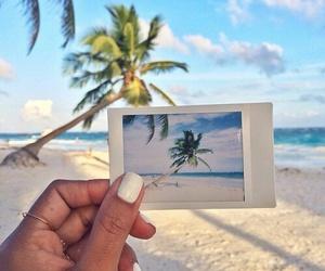 polaroid, summer, and beach image