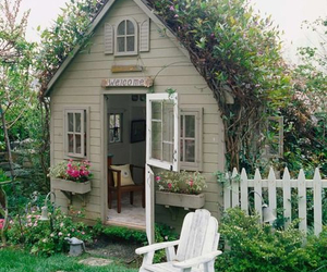 shabby chic, playhouse, and garden shed image