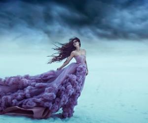 dress, purple, and fantasy image
