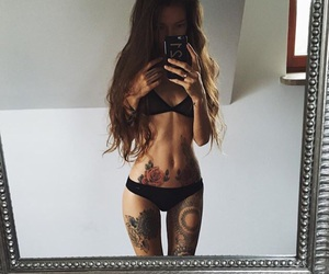 girl, tattoo, and body image