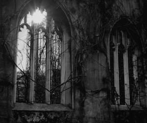 gothic, architecture, and black and white image