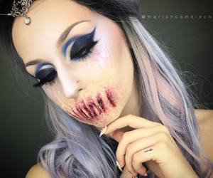 hair, Halloween, and make up image