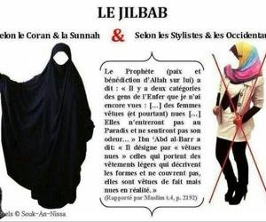 islam, voilé, and jilbab image