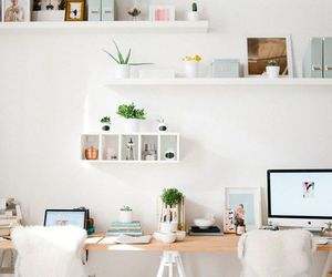 room, white, and decor image