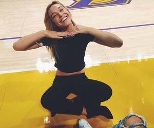Basketball, laker girl, and lakers image