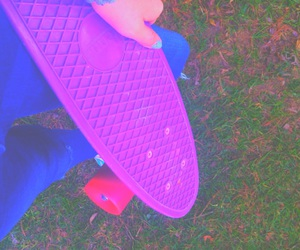 bright, penny board, and pastel image