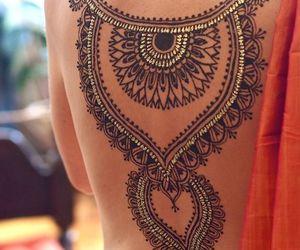 tattoo, henna, and back image