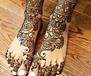 art, balck, and henna image
