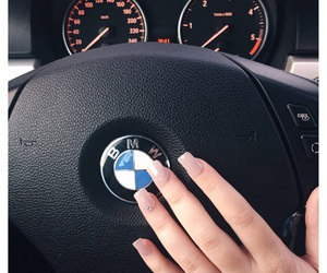 beauty, bmw, and girl image