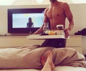 morning, Relationship, and breakfast in bed image
