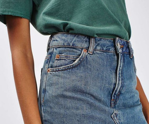 fashion, jeans, and skirt image