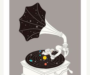 music, art, and space image