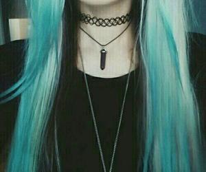 choker, cabello, and colores image