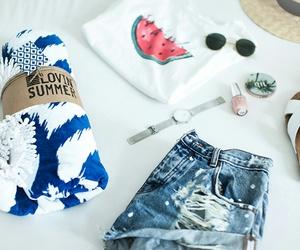 beach, essentials, and fashion image