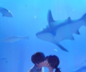 kiss, i hear your voice, and anime image