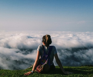 adventure, clouds, and traveling image