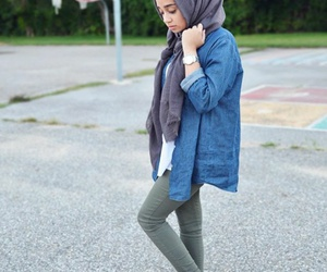 casual, hijab, and style image
