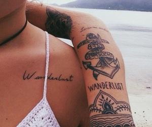 tattoo, wanderlust, and summer image