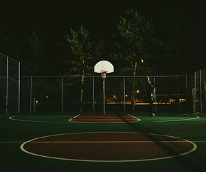 Basketball, night, and game image