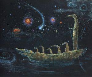 crocodile, Leonora Carrington, and painting image