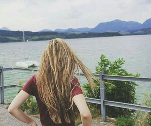 adventure, girl, and hairstyle image