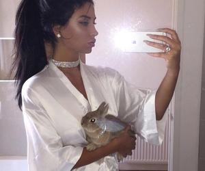 diamond, rabbit, and girl image