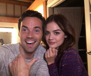 ezria, lucy hale, and pretty little liars image