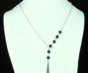 pearl jewelry, pearl necklace, and silver black pearl image