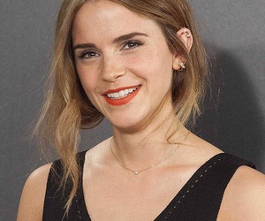 emma watson, piercing, and red lips image