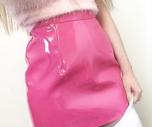pink, pale, and skirt image