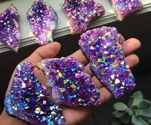 purple, crystal, and stone image