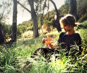 dianna agron, glee, and nature image