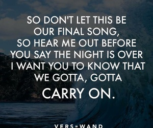 carry on, Lyrics, and music image